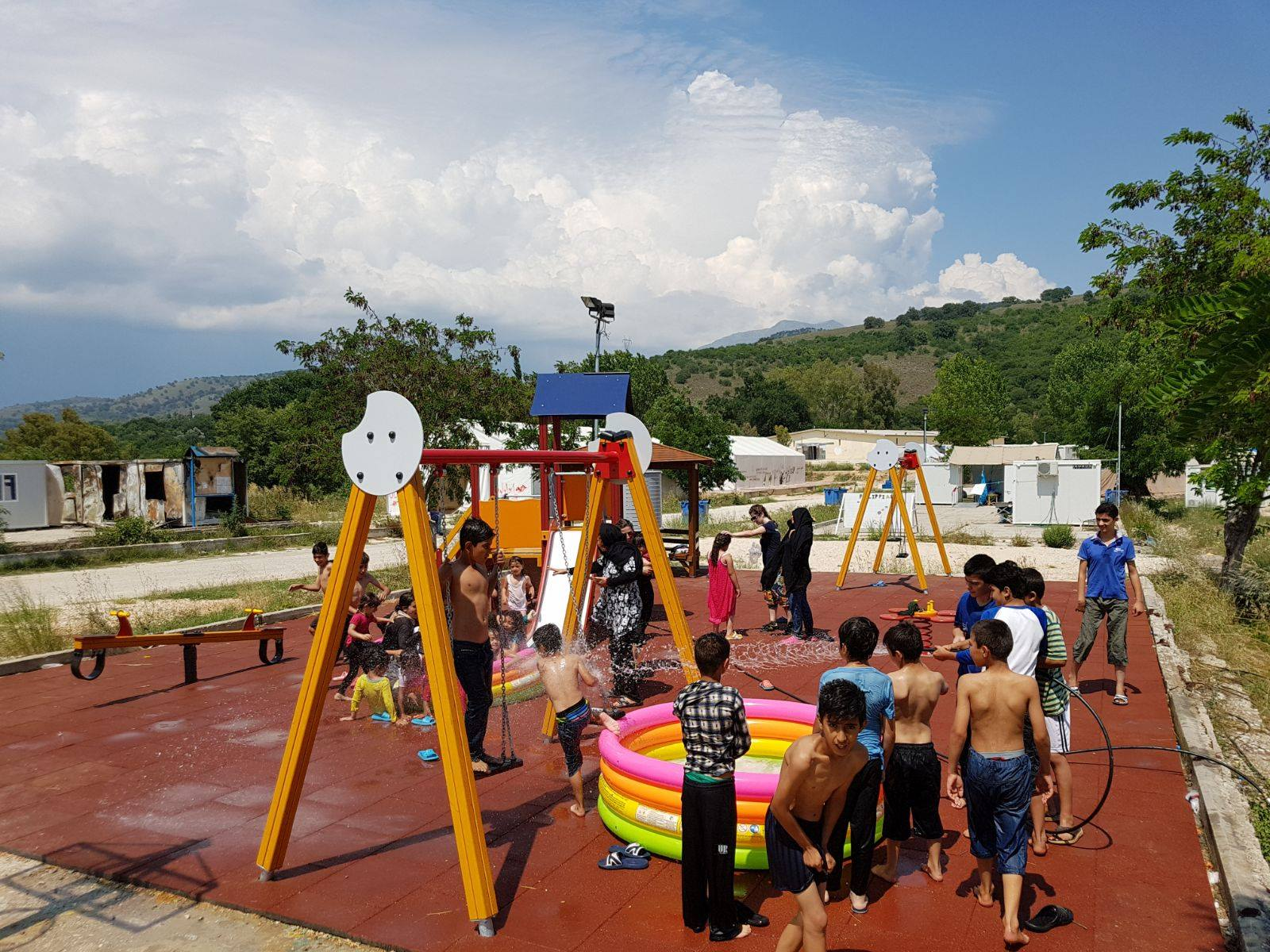 On the Ground: A Children's Playground